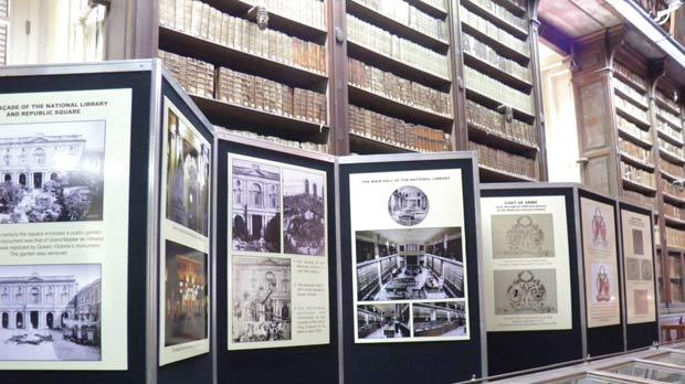 The exhibition showcases a number of historically-significant books and informative panels.