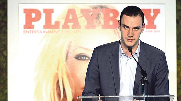Cooper Hefner, son of Playboy founder Hugh Hefner. Photo: Kevork Djansezian/Reuters