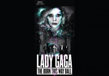 A concert poster of Lady Gaga's new tour in South Korea.