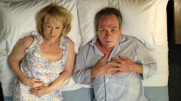 Meryl Streep and Tommy Lee Jones share many an emotion in Hope Springs.
