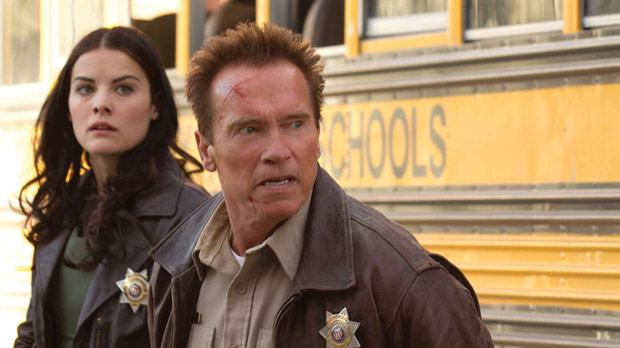 Arnold Schwarzenegger is up against a drug cartel in The Last Stand.