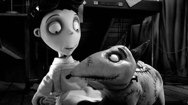 Victor and his ghoulish pet in Frankenweenie.