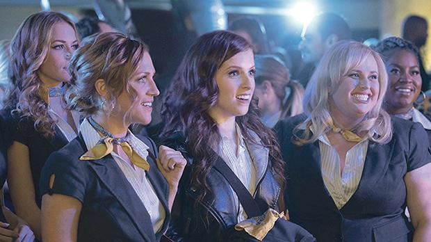 Anna Kendrick, Brittany Snow, Rebel Wilson and Anna Camp in Pitch Perfect 3.