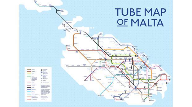 Mind The Map - Malta map