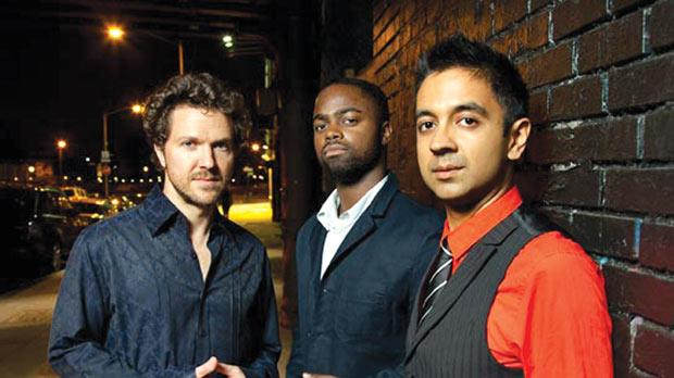 The Vijay Iyer trio. Photo: Jimmy Katz