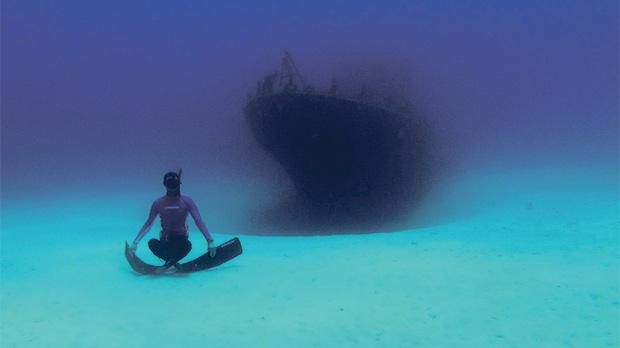 One breath with a world record free diver