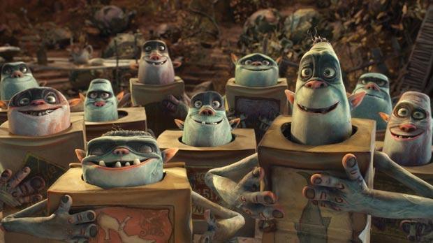 The strange creatures in The Boxtrolls.
