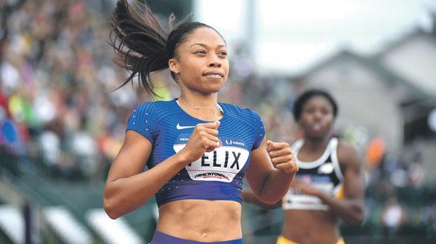 Allyson Felix…no 200m at Rio Games.