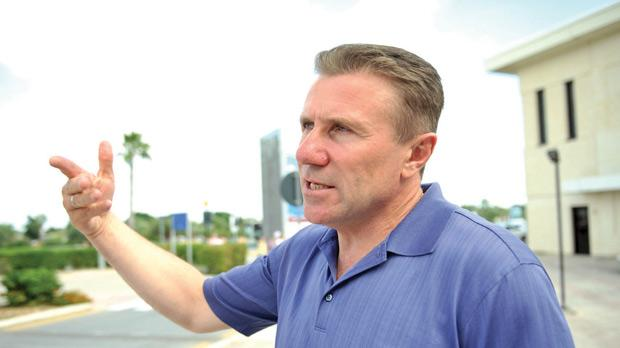 Sergei Bubka on his arrival in Malta yesterday­. Photo: Chris Sant Fournier