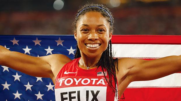Allyson Felix... seeking a rare 200-400m double at the 2016 Olympic Games.