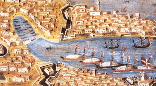 Galleys in Valletta by Joseph Muscat (Malta Maritime Museum).