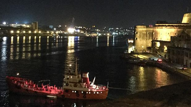 Grand Harbour by night. Photo: Adrian Farrugia