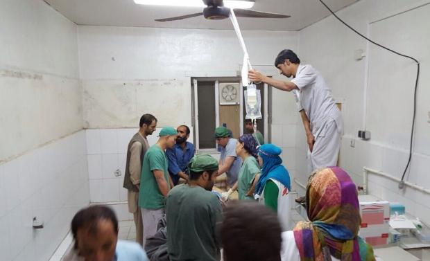 Surgery activities underway this morning in the aftermath of the bombing of MSF's Kunduz hospital.