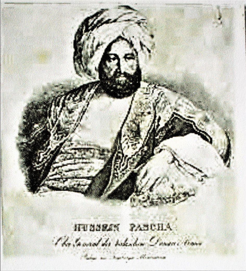 General Agha Hussain Pasha, commander-in-chief of the Ottoman forces in the Russian-Turkish War.
