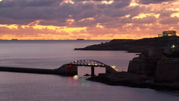 Breakwater bridge in Valletta. Photo: Robert Agius