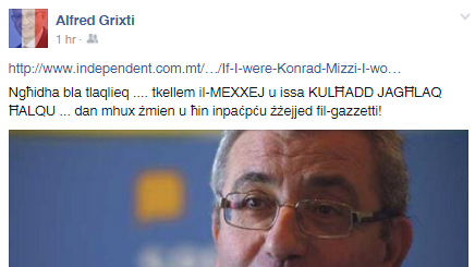 Zebbug's PL mayor Alfred Grixti took to Facebook to urge his colleagues to zip it.