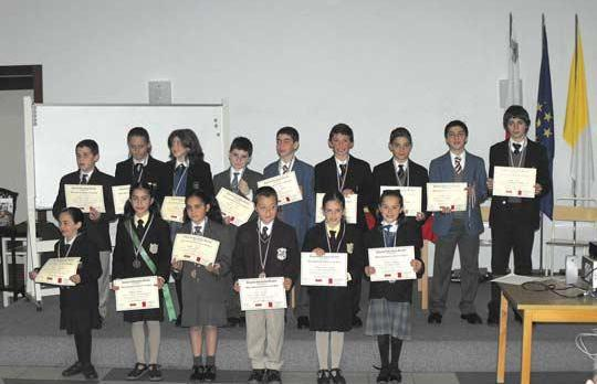 The 15 students chosen as representatives of their schools for the 2009 ESB 'Young Speaker of the Year' award.