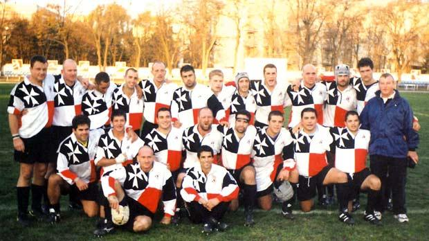 Flashback... The Malta squad before their first ever international game against Moldova in 2000.