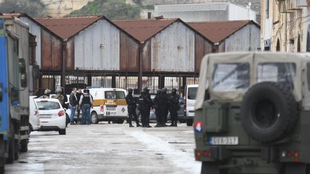The arrest of the three murder suspects in Marsa.