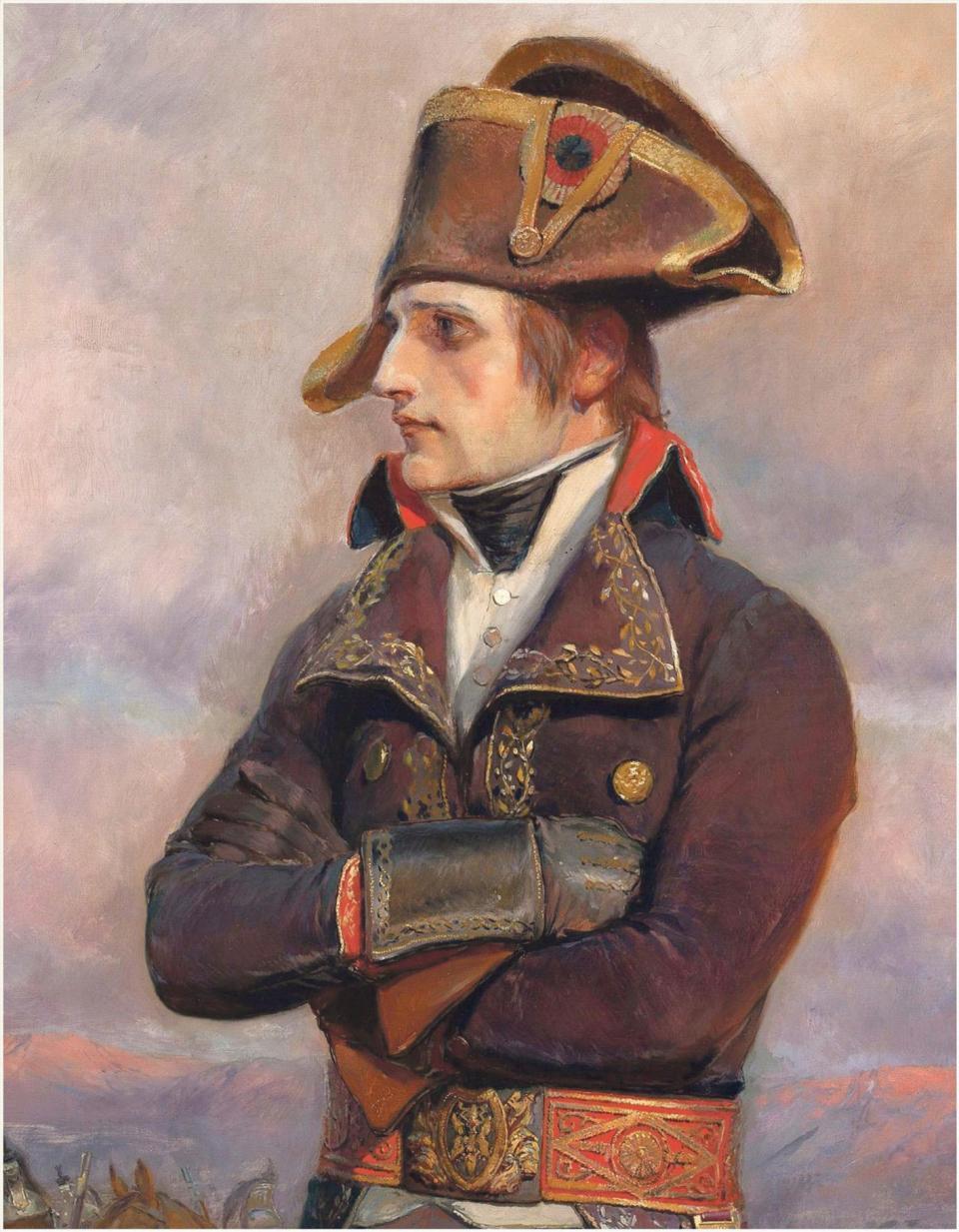 General Bonaparte in Egypt in 1798 by Edouard Detaille, sometime after leaving Malta (Musée de l'Armée, Paris, RMN).