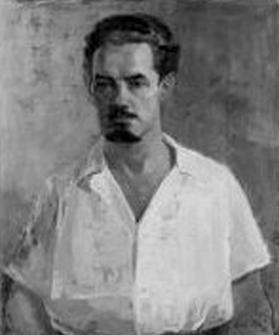 Leslie Cole, self-portrait.