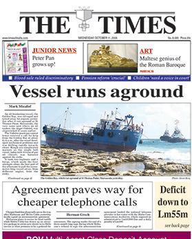The Golden Bay ran aground at St Thomas Bay, Marsascala, in 2006.