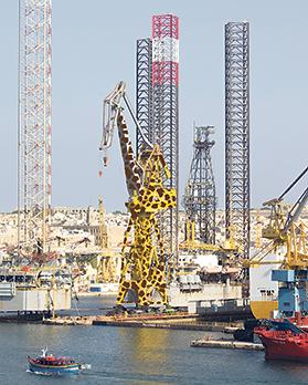 The artist's impression of the Grand Harbour crane after its transformation. Photo provided by James Micallef Grimaud