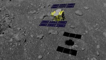 Japan probe blasts asteroid, seeking clues to life's origins
