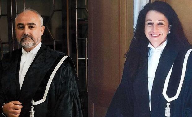 Magistrate Anthony Vella (left) and Magistrate Consuelo Scerri Herrera.