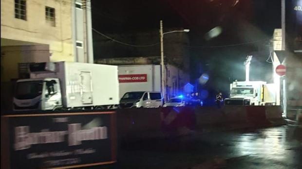 The raid on the premises Triq it-Tigrija took place on Sunday night.