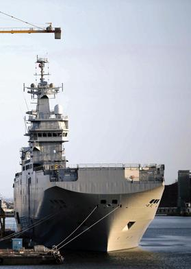 One of the two Mistral-class helicopter carriers that France has agreed to sell to Egypt. Photo: Reuters