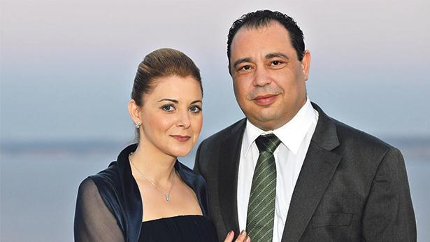 Mr Valletta and his wife, Gozo Minister Justyne Caruana.