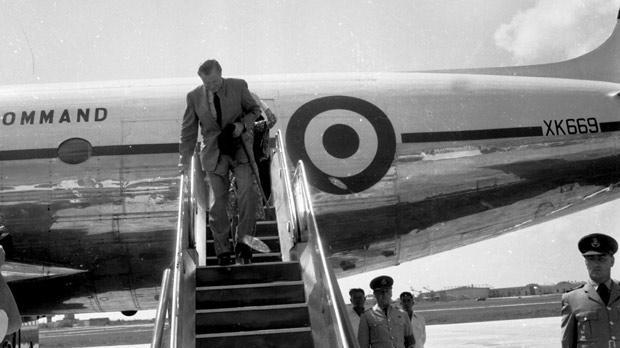 Colonial Secretary of State Duncan Sandys arriving in Malta for the Independence Day celebrations. Photo: DOI