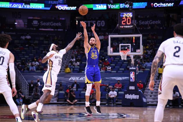 Curry leads Warriors as Pelicans playoff hopes fade