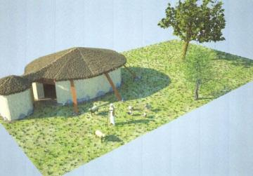 How archaeologists believe one of the earliest houses in Malta would have looked.