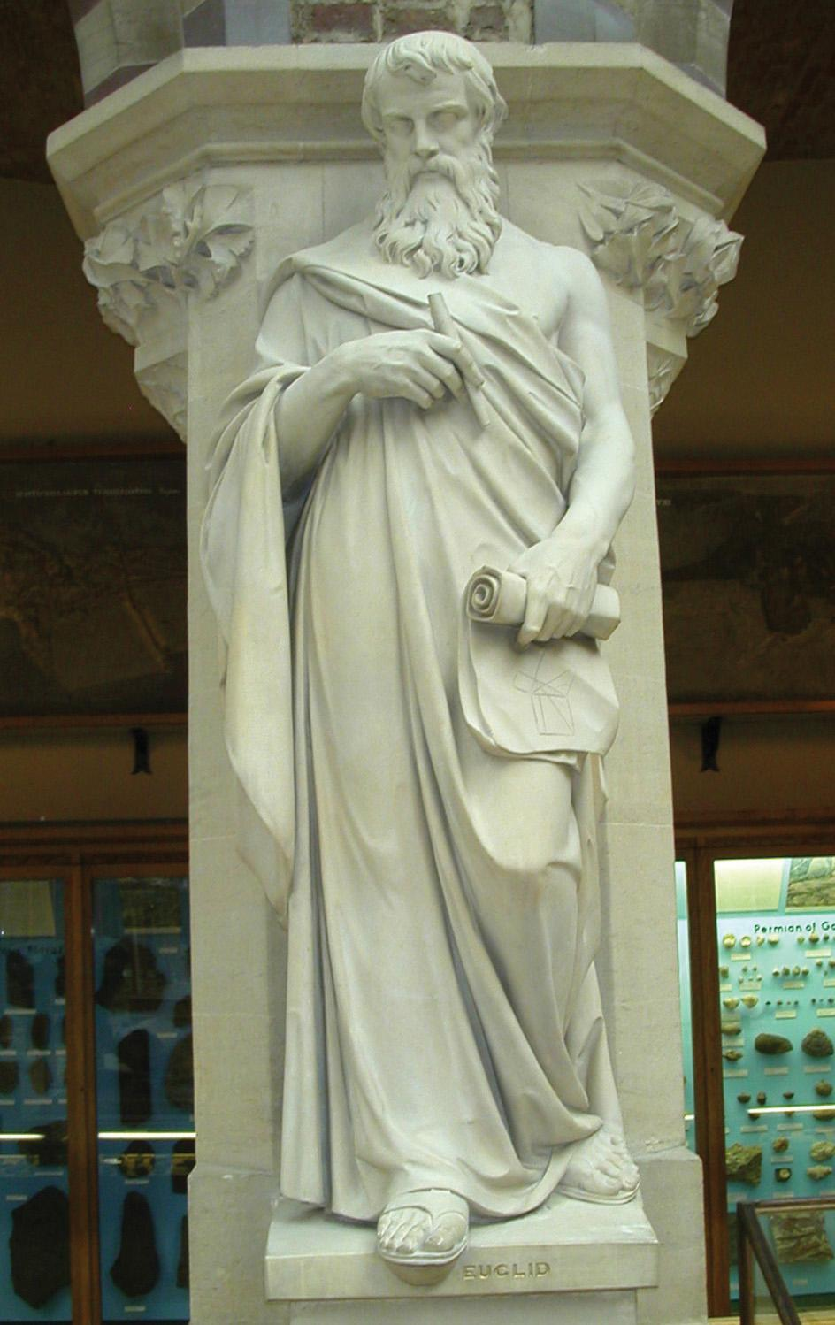 A 19th-century statue of the ancient Greek mathematician Euclid of Alexandria. Photo: Wikipedia