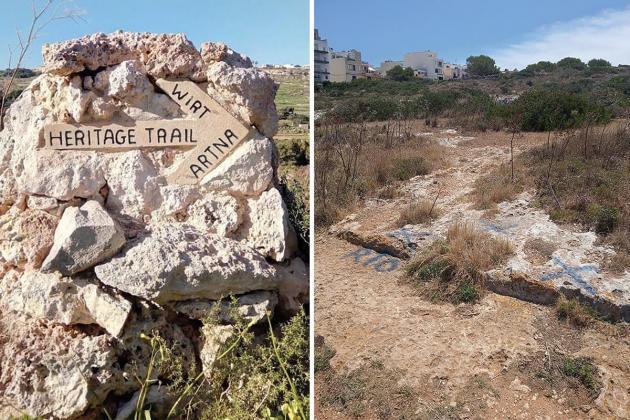 Xemxija heritage marker destroyed