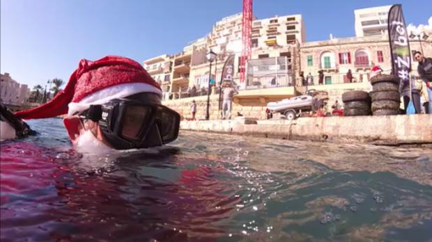 Santa takes to the waves. Photo: Raniero's Adventures