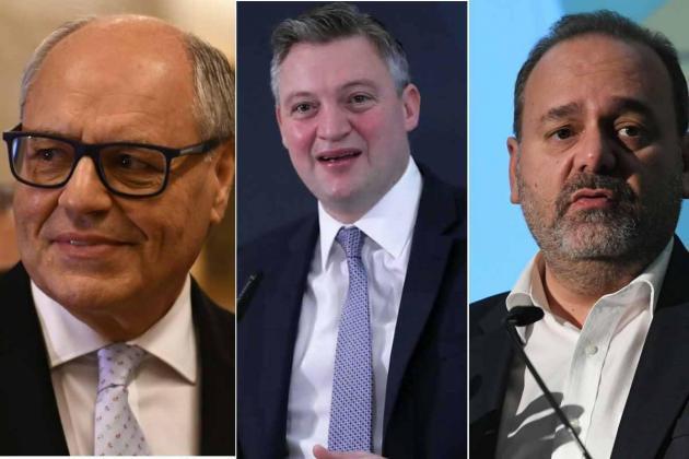 Ministers Edward Scicluna, Konrad Mizzi and Chris Cardona