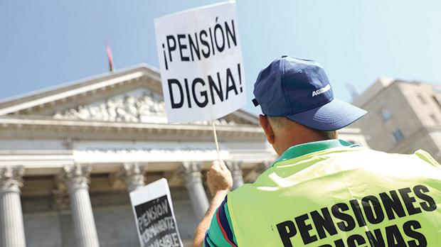 Pensions protests in Spain. Photo: Reuters