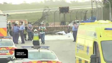 An eyewitness describes seeing the crash. Video: Mark Zammit Cordina