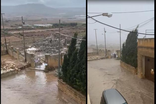 Watch: Ta' Ħaġrat under water, worries proposed project would increase flooding