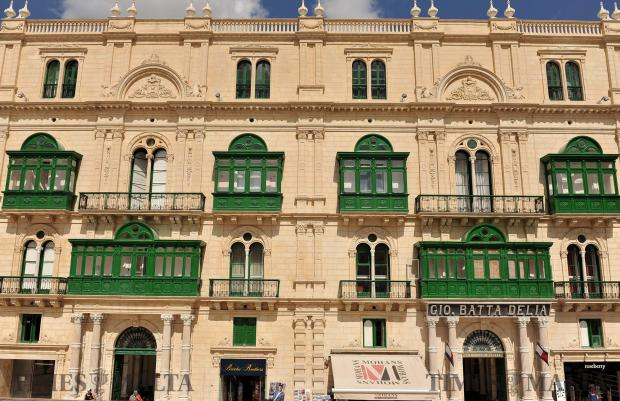 The newly restored facade of Palazzo Ferreria in Valletta on September 7. Photo: Chris Sant Fournier
