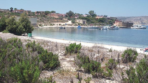Sensitive site: 70,000 square metres of land on Comino was publicised for sale last week in what was then claimed to have been a mistake.