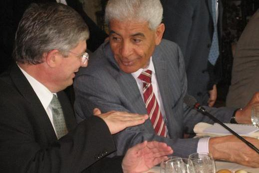 The Maltese and Libyan Foreign Ministers during a previous meeting.
