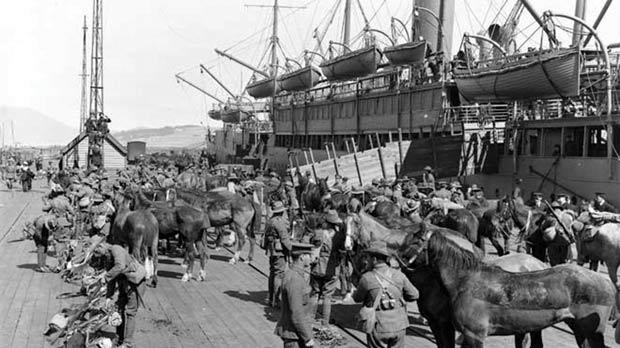 The New Zealand Expeditionary Force prepares to leave for World War I. Photo: New Zealand government archives