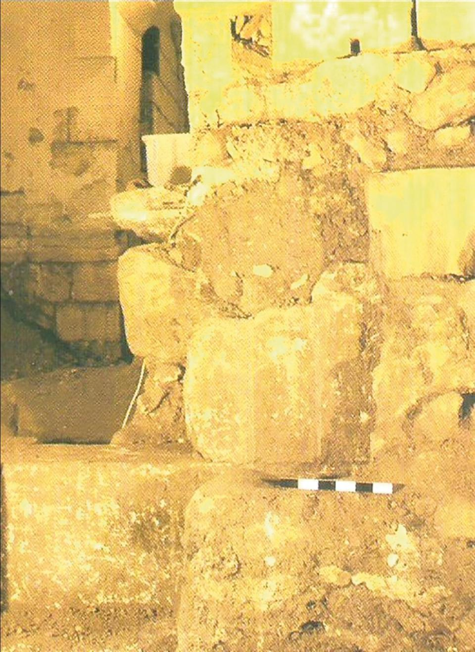 Ashlar blocks from the massive early foundations of Mdina which the Arabs developed from the Byzantine city.