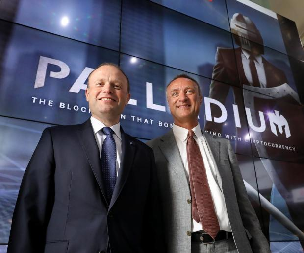 Prime Minister Joseph Muscat and Palladium chairman Paolo Catalfamo at the launch.