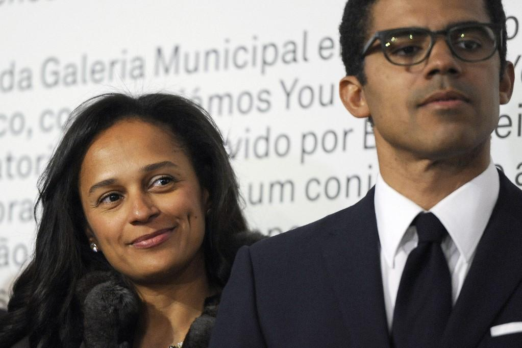 Isabel dos Santos (L) and her husband Sindika Dokolo. Photo: AFP