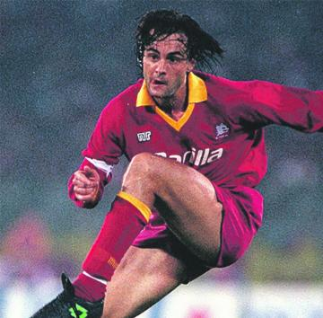 Giuseppe Giannini during his playing days with Roma